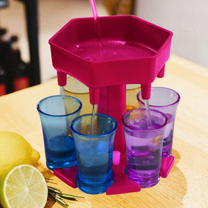 6 Shot Glass Dispenser Holder For Filling Liquids Shots Multiple 6 Shot Bar Shot Dispenser Cocktail FY4342