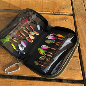 16Pcs   20Pcs Fishing Lures Spinners Baits Spinner bait Spoon Set with Tackle Bag Trout Bass Salmon Pike Walleye Fishing Tackle Q1123