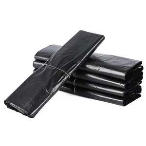 Thickened Trash Bags Supermarket Shopping Bags Portable Household Black Trash Bag Disposable Vest-shape Plastic Garbage Bags DHF3552