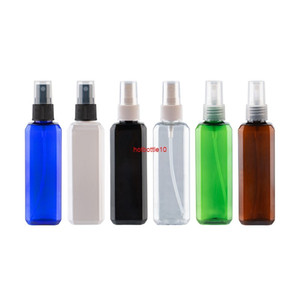 100ml X 50 Mist Sprayer Pump Coloed Plastic Bottles 100cc Fine Spray Perfume Container Square Empty Cosmetic Tinshipping