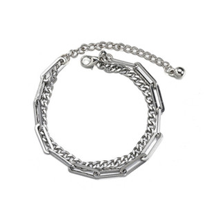 2020New Independent Niche Design Stitching Double Layer Bracelet Men And Women Hip Hop Cold Style Personality Couple Accessories