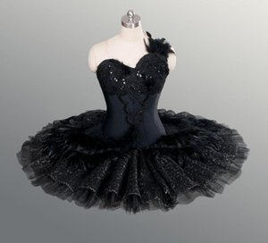 Fairy professional classical ballet black swan tutu