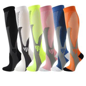 Huaya Men Compression Running Pallacanestro Spades 20-30 MmHg Ginocchio Compass Maratona calze Unisex Women Nylon