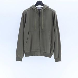 Mens stone island hoodies pullover topstoney zip con cappuccio Felpe Moda Italia l'autunno e l'inverno stile 7color paio hoodie