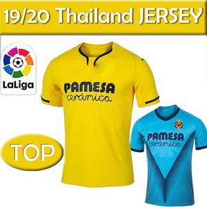 NCAA 19 20 Villarreal Soccer Jersey #7 MORENO S.CAZORLA PEDRAZA Soccer Uniform Adult #10 IBORRA FABIO DAVIS Football Shirt thailand