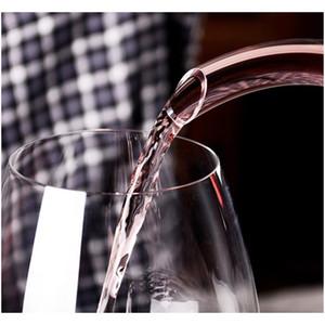 Eco-friendly 1200ml U-shaped Glass Horn Wine Decanter Party Wine Pourer Red Beer Carafe Aerator Barwar jllFVZ eatout