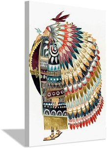 Watercolor Indian with Feathered Bird Native Posters and Prints Nursery Baby Nordic Style Kids Decoration Canvas Painting