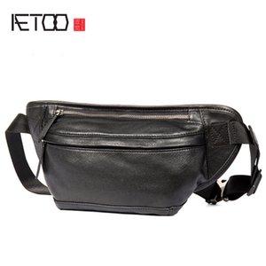 AETOO Tide head leather cowhide men's bag multifunctional leather chest bag shoulder bag mobile phone pocket