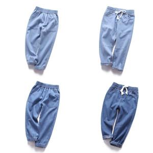 Enfants Jeans Fashion Coréen Casual Pocket Anti-Mosquito Pantalons pour filles 3-8 ans Enfants Boys Boys Denim Pantalons Baby Harem Pants 2020 J1205
