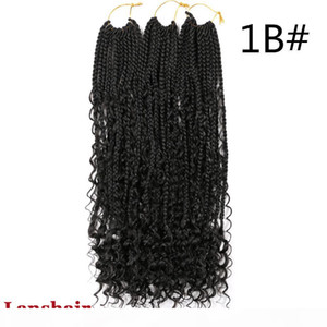 22inch River Crochet Box Braids With Curls Boho Braids 12 Strands Synthetic Goddess Box Braids 70g pc Crochet Hair Extensions Curly Ends