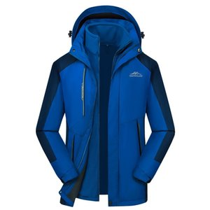 Winter jacket Men's waterproof hooded detachable breathable sports two-piece outdoor coat oversized windbreakerX1121