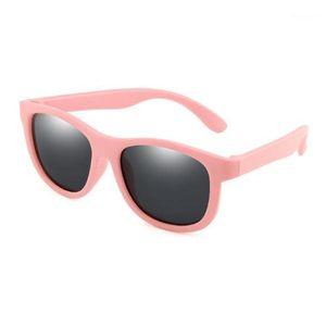 Солнцезащитные очки Поляризованные Дети Дети TR90 Солнцезащитные Очки Мальчики Девочки Глаз Стекло Ребея Силиконовые Рамки Безопасность Детские оттенки UV400 Eyewear1