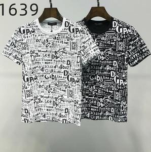 Ummer Paris para hombre ropa de lujo taladro caliente camiseta diagonal letra impresión t shirt moda r tshirts casua80