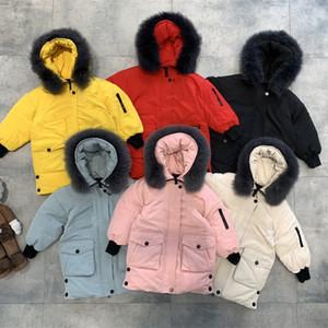 أطفال أسفل سترة ملابس الطفل الخريف الشتاء جاكيتات للبنين 2-10 سنوات الاطفال الفراء طوق مقنعين الدافئة قميص معاطف للبنين الملابس