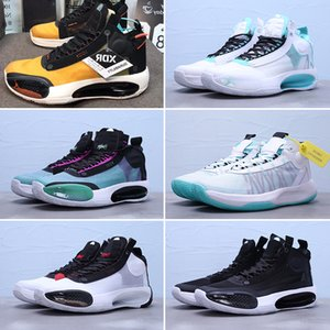 2020 XXXIV 34 Blue Void Eclipse 34s Mens Baasketball Shoes Green Glow Black AR3240-400 Flight Trainers Sport Sneakers des chaussures Zapatos