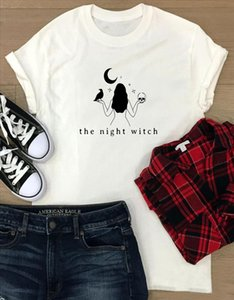 the night witch Gothic t shirt funny women nbsp;graphic 100% Cotton quote tumblr nbsp; Fashion aesthetic grunge unisex tee top tshirts fit
