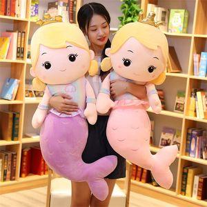 Multi-Size Kawaii Meerjungfrau Plüschtiere Weiches Tierkissen Gefüllte Spielzeug Prinzessin Puppen Kinder Jungen und Mädchen Geburtstagsgeschenke Dekor 201214