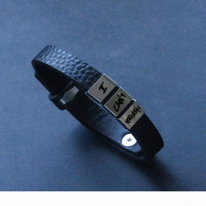 K Super 2020 I Can &#039 ;T Breathe Bracelet Silicone Black Stainless Steel Breathe Opp Bag Fighting Fighting
