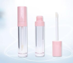 Pink Clear Lip Glaze empty tube 6.5ml Round tube lip color tube transparent lip Bottles