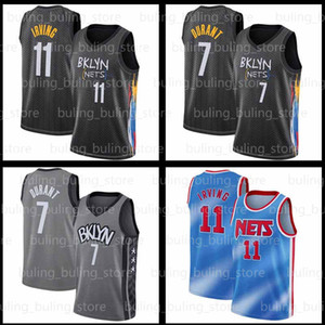 Kevin 7 Durant Jersey 35 11 Irving 2020 2021 Kyrie New Brooklyn 72 Biggie Nets City Mens White Black Size S-2XL 20 21 Basketball Jerseys