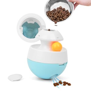 Interactive Toys Tumbler Leakage Ball Food Dispenser Slow feed Accompany Playing Training Pet Supplies For Dog Y1125