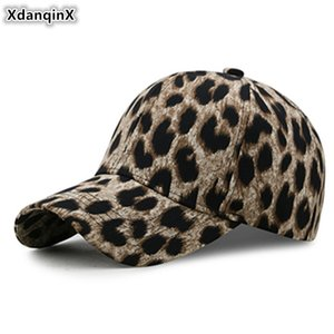 XdanqinX Women's Hat Leopard Print Baseball Cap 2020 Spring Summer New Tongue Caps Adjustable Size Female Brand Hat Snapback Cap F1208