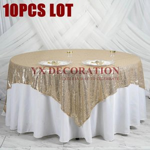 Good Quality Seamless Sequin Overlay Tablecloth Wedding Table Cloth For Out Door Banquet Event Decoration