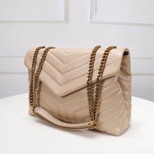 Femmes de luxe designeurs sacs sacs à main graisse carrée Loulou sac de chaîne en cuir véritable sac à bandoulière grande capacité matelassé Messenger Haute Qualité