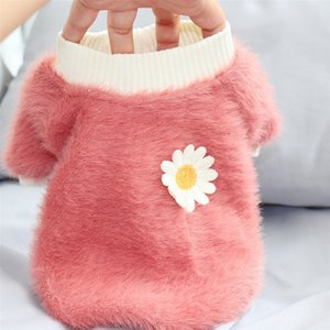 2020 New Pet Winter Warm Cute Flower Dog Clothes Puppy Clothing For Small Dogs Luxury Chihuahua Pug Coat Accessories Y1124
