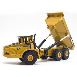 Huina 1:50 Dump Truck Escavadeira Roda Loader Diecast Metal Modelo Construção Veículo Brinquedos Para Meninos Aniversário Presente Car ColeçãoQ1221