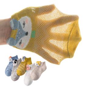 5 Pair Lot Summer Super New Kids Cotton Socks. Boy,Girl,Baby,Infant Cute Cartoon Breathable Mesh Socks.For Children Sock CN LJ200828