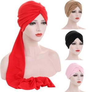 Women Muslim Hat Beanie Cross Head Wrap Turban Caps Islamic Cancer Bonnet Headscarf Chemo Hair Loss Arab Ladoes Caps Headwear
