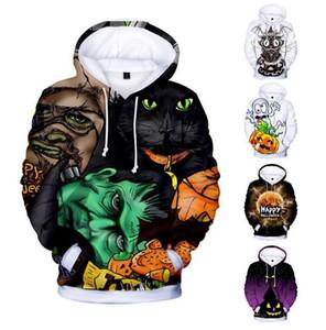 XXS-4XL Plus Size Winter Mens Warm Coat Women Sweatshirt Casual Scary Halloween 3D Print Long Sleeve Hoodie Outwear Top Blouse#D