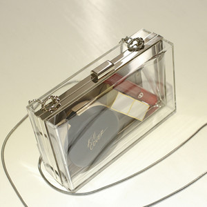 Transparent Handbag Clear Coin Purse Wedding for Women 2020 Bride Party Cluth Bag Luminous Mini Crossbody Bags Sac A Main Q1116