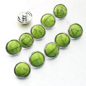 Colorful Crack Mixing 12mm Snap Button 10pcs Lot Jewelry Resin Snap Button Pression Bijoux Watches Women Charm Bracelet H bbykbd