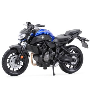 Maisto 1:18 Yamaha MT07 Estado estático Vehículos fundidos Pasatiempos coleccionables Modelo de motocicleta Juguetes Y1201