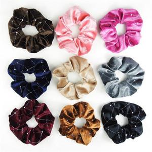 Flamelette Lady Kız Saç Halkası Scrunchies Nefis Moda Aksesuarları Hairband Elastik Rhinestone Ekose Bant En Çok Satanlar 1FR F2