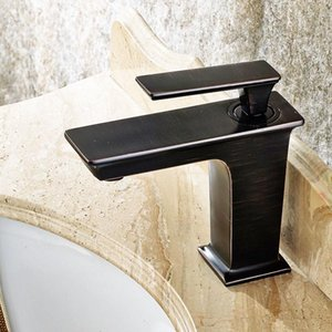 Free Shipping Brass Oil Rubbed Bronze ORB Black Bathroom Faucet Bath Vessel Sink Basin Mixer Tap Cold Hot Water Tap 22A1331A