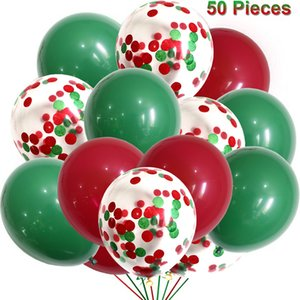 DHL Shipping Christmas Balloons Set 50 Pieces Latex Balloon 12 Inch Party Decoration for Birthday Baby Shower Wedding Supplies Kimter-B302F