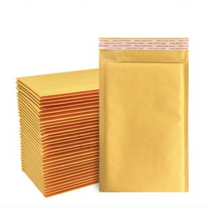 10pcs Yellow kraft paper foam bag clothing waterproof bag express packaging logistics poly bubble mailer foam