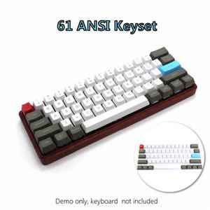 61 مفتاح ANSI-Layout OEM الشخصي PBT سميكة Keycaps ل 60٪ لوحة المفاتيح الميكانيكية ل Cherry MX مفاتيح الألعاب لوحة المفاتيح KEYCAP فقط Q1224