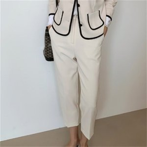 2021 New Spring Outfits for Women in 2 Piece Defines Jacket Pants Elegant Fashion Blazer and Shirts Two Pc Sets N649