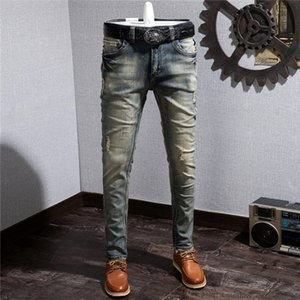 2020 mens jeans denim ripped jeans for men skinny broken Italy style hole bike motorcycle hot rock revival pants