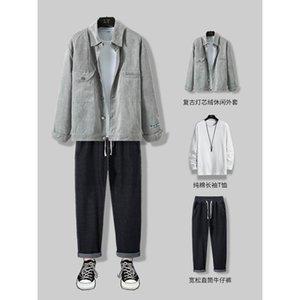 Casual Suit inverno moda coreano Abbigliamento sportivo Autumn Autumn Autunno Aumento A con Ruffian Handsome Three Piece Set