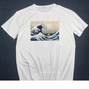 New Designer tshirts off The Great Wave of English Bulldog T-shirt For Man white T Shirts women summer plus size tshirt top