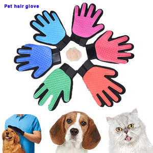 Silicone Pet hair gloves Comb Pet Dog Cat Grooming Cleaning Glove Deshedding left Right Hand Hair Removal Brush Blood Circulation DHL free