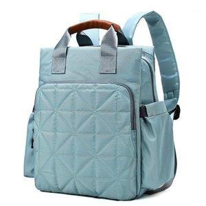 Umaubaby nylon sólido fralda saco mochila múmia viagem bolsa bebê carrinho de bebê saco organizador de maternidade impermeável1