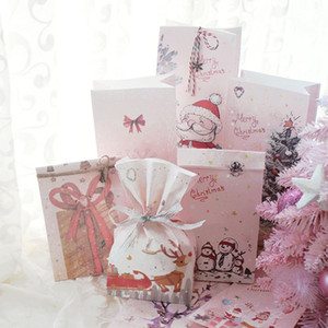 Creative Christmas Candy Box High Quality Kraft Paper Bag Christmas Gift Packaging Candy Baking Bread Party Supplies