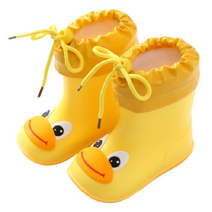 Venta al por mayor-New Fashion Classic Childrens Shoes PVC Rubber Niños Bebé Zapatos de dibujos animados niños zapatos de agua impermeable botas de lluvia