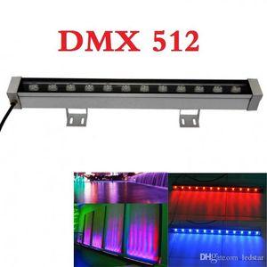 DMX 512 RGB LED جدار غسالة ضوء 24V 12W LED الكاشف IP65 الإضاءة في الهواء الطلق ل bar lighting